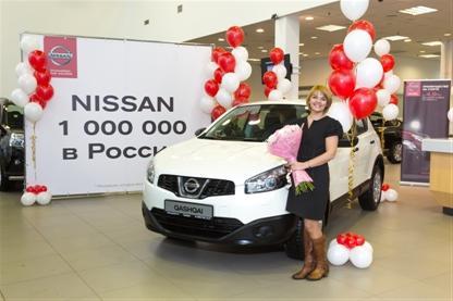 Продажи автомобилей Nissan в России превысили 1 миллион единиц