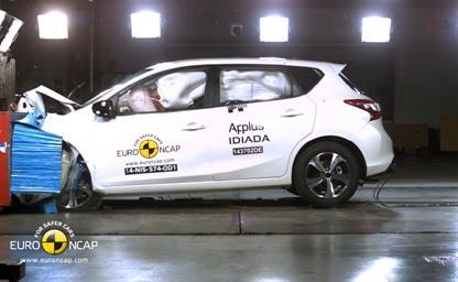 Третья подряд победа в EuroNCAP - Новый Nissan Pulsar получает максимальную оценку за безопасность